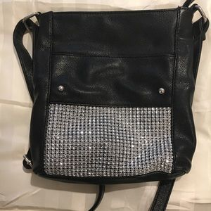 Handbags - Fashion black/rhinestone crossbody